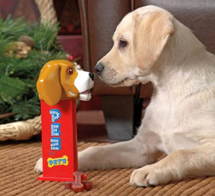 This Giant Pez Dispenser Dispenses Dog Treats