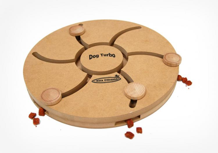 Wooden Dog Puzzle Game With Treat Reward